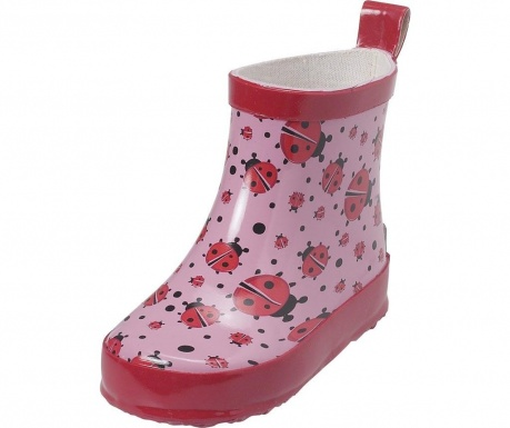 Cizme de ploaie copii Ladybug on Pink 26