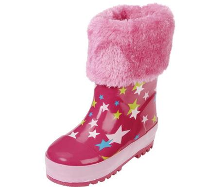 Cizme de ploaie copii Fluffy Pink 20-21
