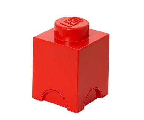 Kutija za pohranu s poklopcem Lego Square Red