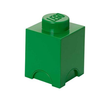 Pudełko z pokrywką Lego Square Dark Green