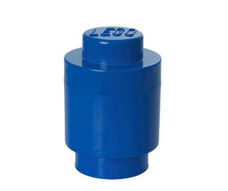 Kutija za pohranu s poklopcem Lego Round Blue