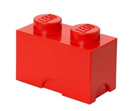 Kutija za pohranu s poklopcem Lego Rectangular Red