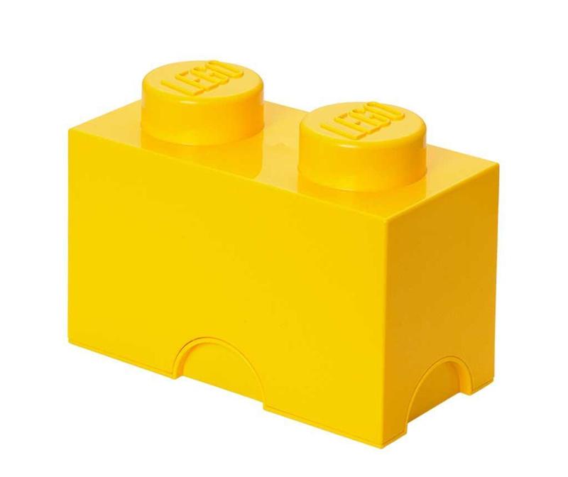Škatla s pokrovom Lego Rectangular Yellow