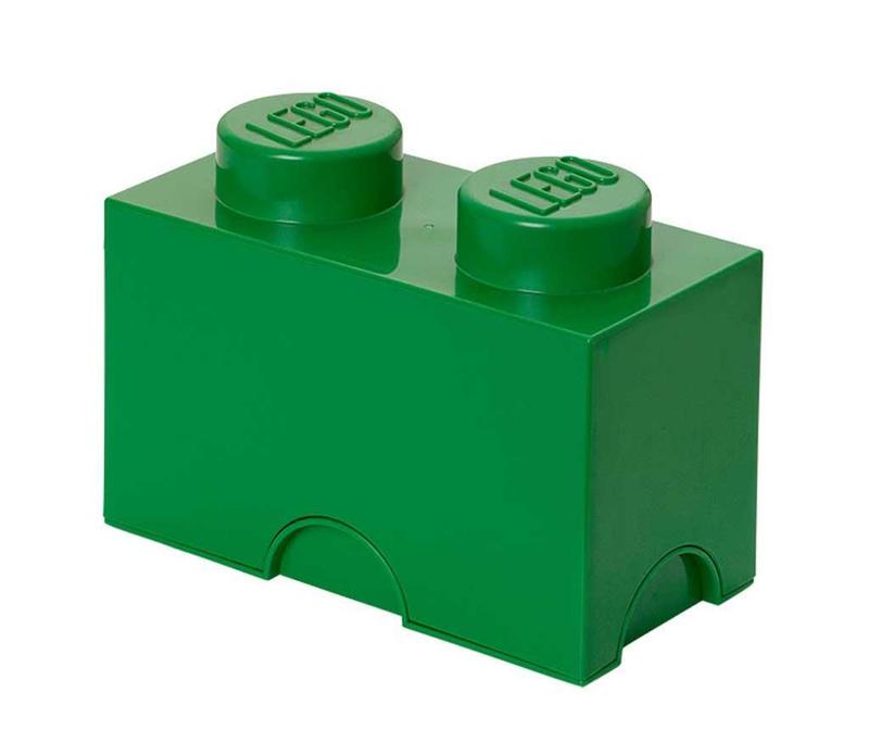 Kutija s poklopcem Lego Rectangular Dark Green