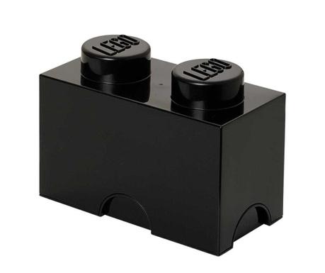 Kutija za pohranu s poklopcem Lego Rectangular Black