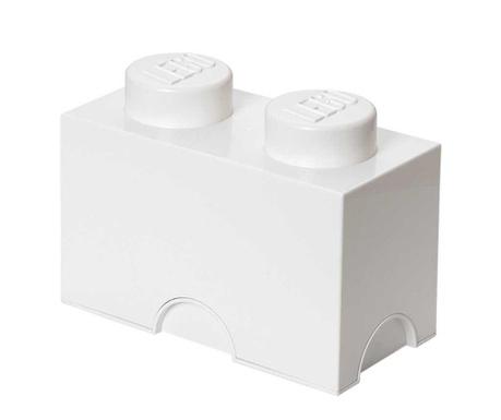 Lego Rectangular White Doboz fedővel