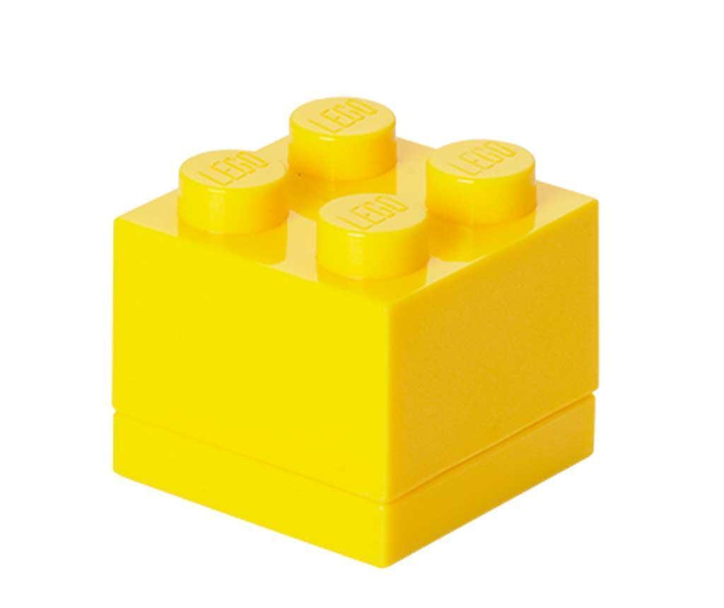 Cutie cu capac Lego Mini Square Yellow