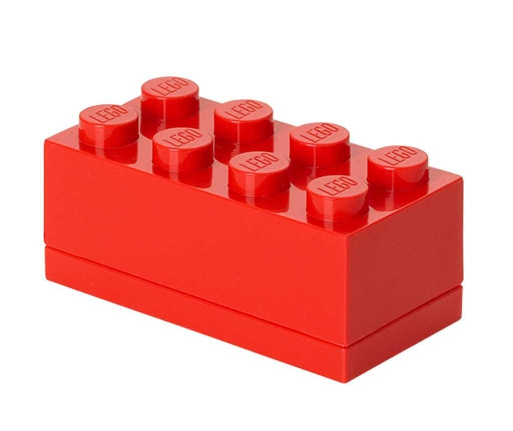 Škatla s pokrovom Lego Mini Rectangular Red
