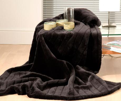 Κουβέρτα Venus Black 220x240 cm