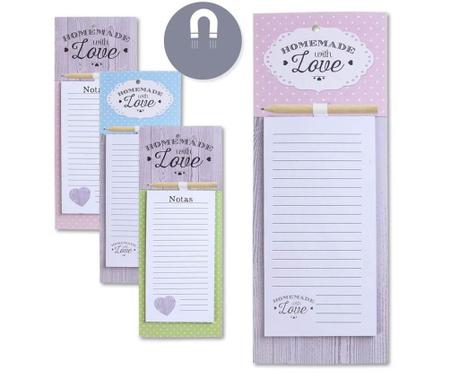 Set 4 carnetele magnetice pentru notite Homemade with Love
