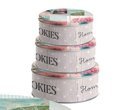 Set 3 cutii cu capac Lovely Cookies