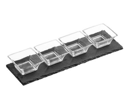 Комплект за аперитиви 5 части Fluted Slate