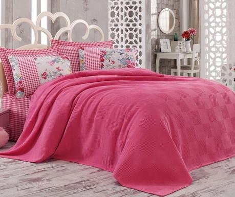 Narzuta Pique Iskoc Red 200x240 cm. Kampania wygasła Komplet pościeli  Double Pique Ariete Pink. Komplet pościeli Double Pique Ariete Pink 4007af2fb2
