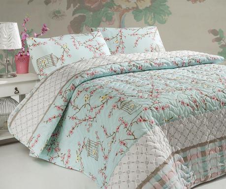Set s prešitim posteljnim pregrinjalom Double Birdcage