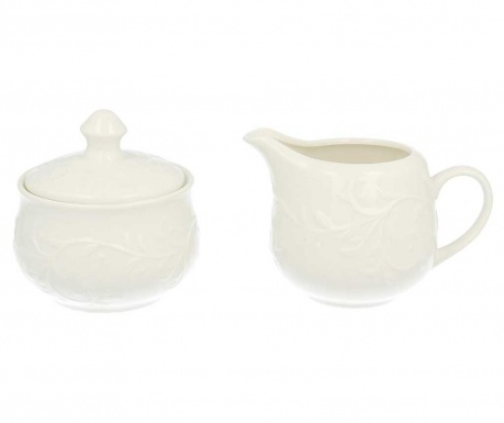 Set of sugar bowl with cover and milk jug Hemingway