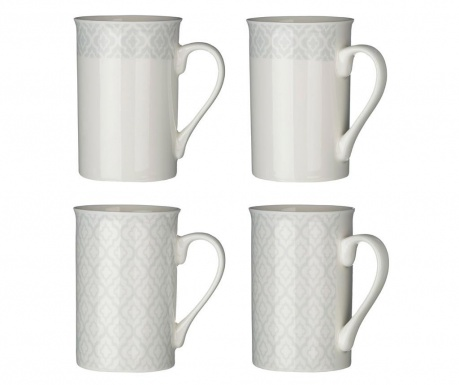 Set of 4 mugs Altea Grey 270 ml