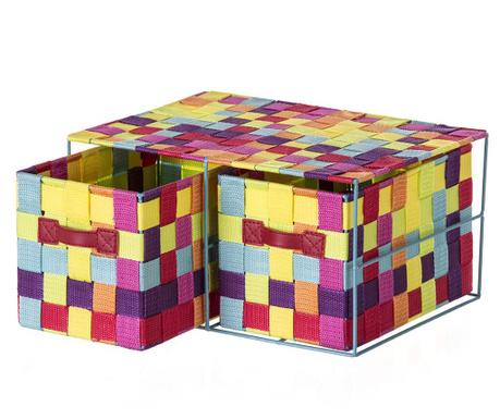 Κουτί με 2 καλάθια Stars Multicolor