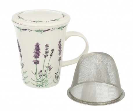 Lavender Bögre fedővel és szűrővel 250 ml