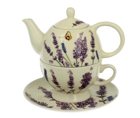 Sada čajník s šálkem a podšálkem Lavender Time