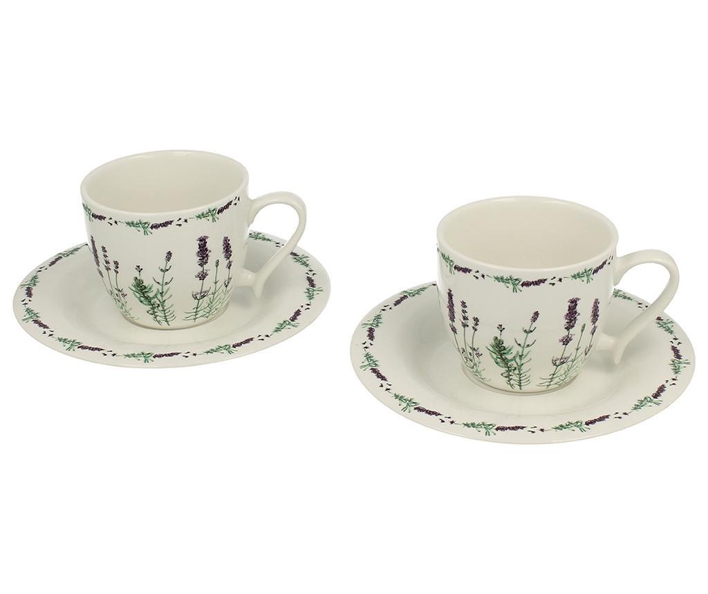Сервиз 2 чашки и 2 чинийки Lavender