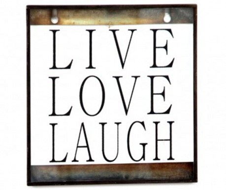 Stenska dekoracija Live Love Laugh