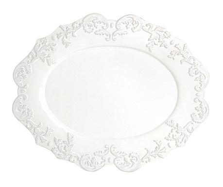 Patera Oval Trianon White