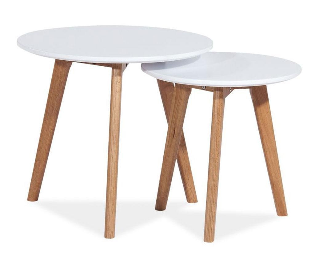 Set 2 klubskih mizic Mette White