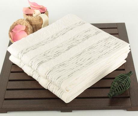 Marbeled Ecru 2 db Fürdőszobai törölköző 50x90 cm