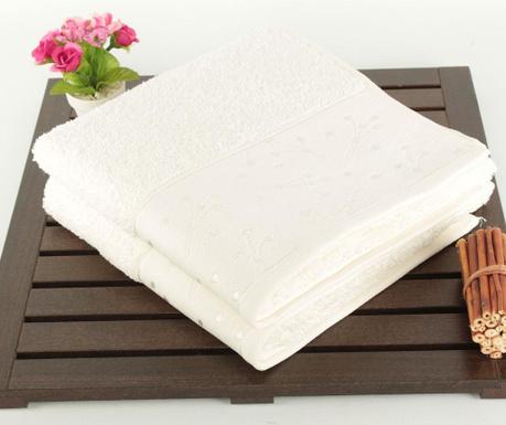 Ariana White 2 db Fürdőszobai törölköző 50x90 cm