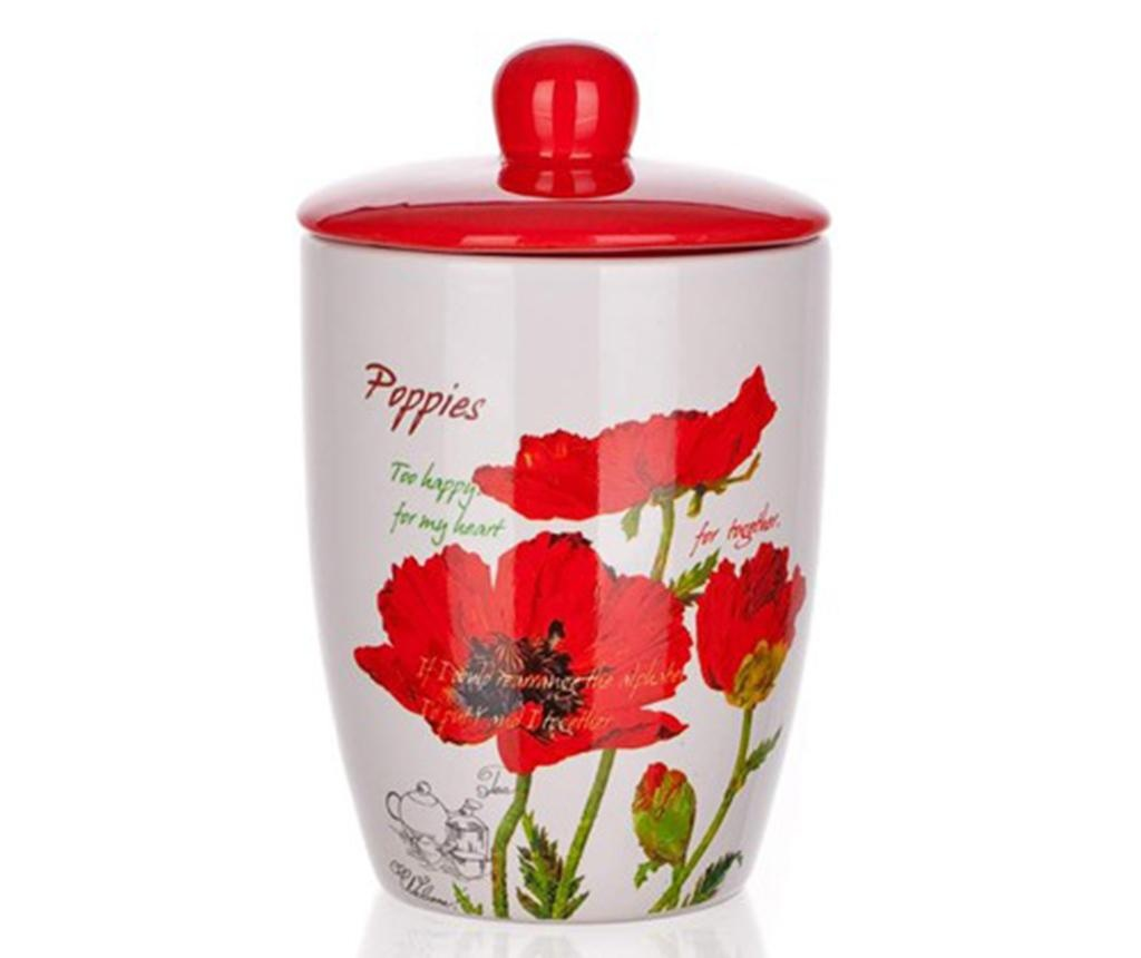 Nádoba s víkem Red Poppy 600 ml