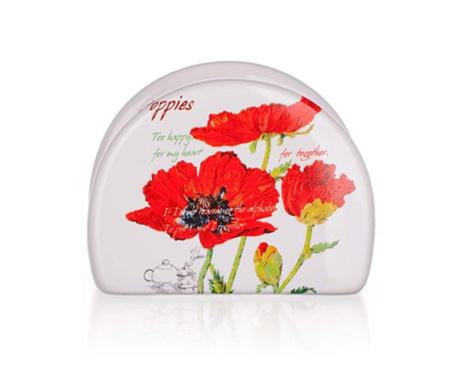 Suport pentru servetele Red Poppy