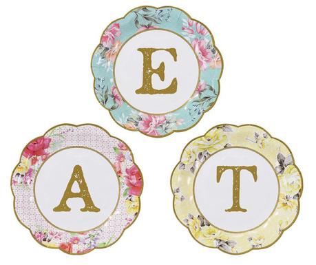 Zestaw 12 talerzy jednorazowych Eat