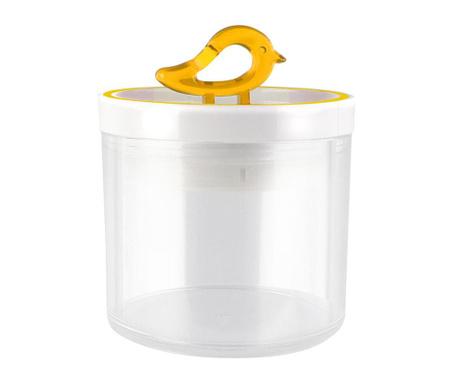 Livio Bird Yellow Tároló fedővel 400 ml