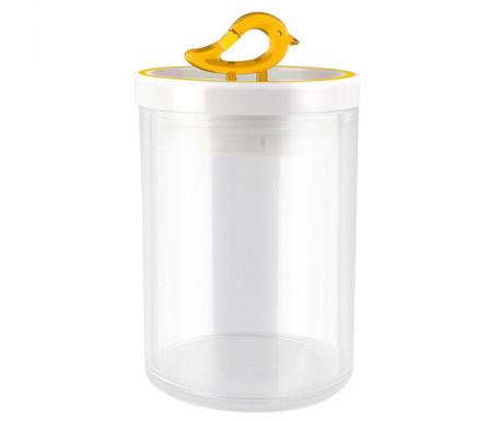 Livio Bird Yellow Tároló fedővel 800 ml