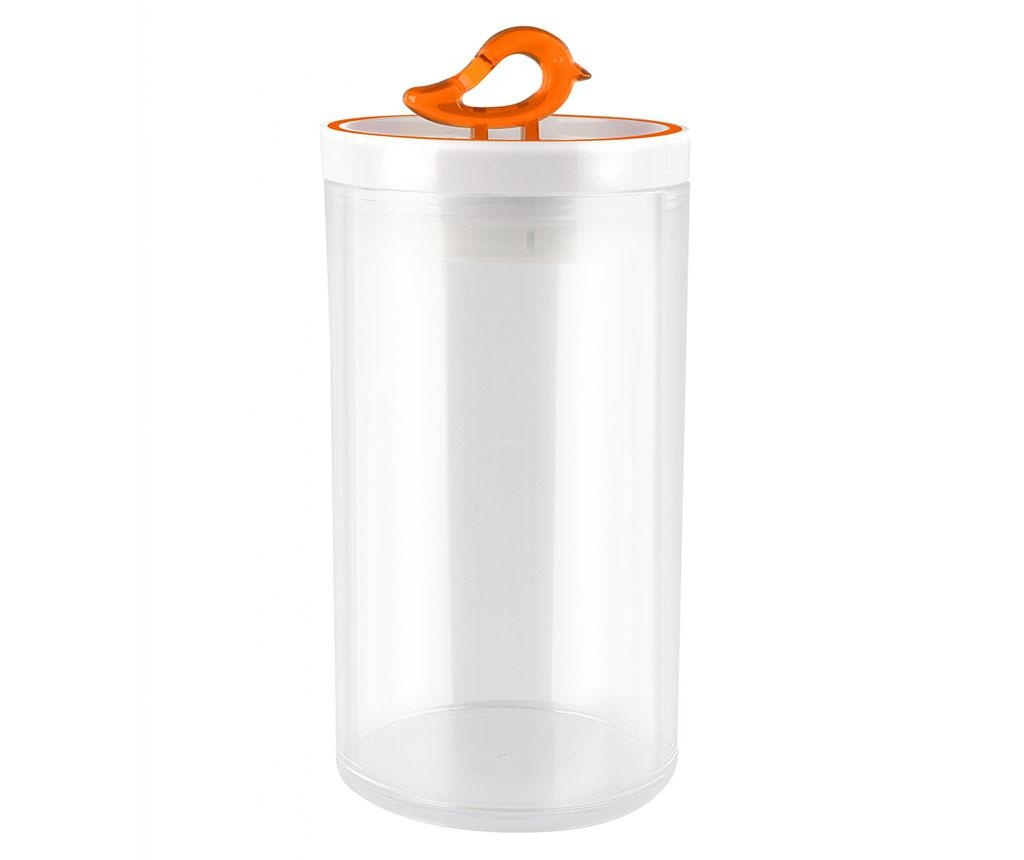 Recipient cu capac Livio Bird Orange 1.2 L