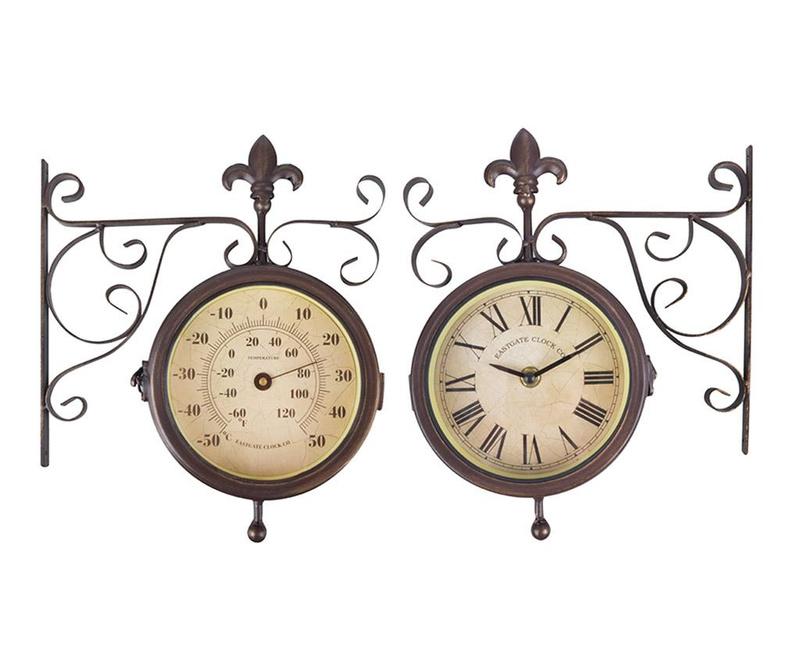 Ceas de perete pentru exterior Double Faced