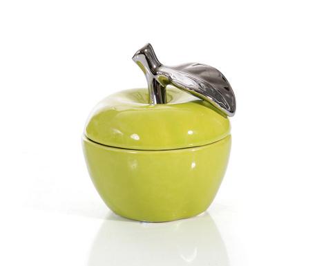Vas decorativ cu capac Julia Apple Yellow