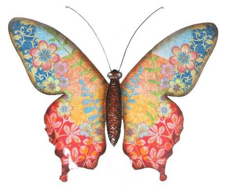 Zidni ukras Flowery Butterfly