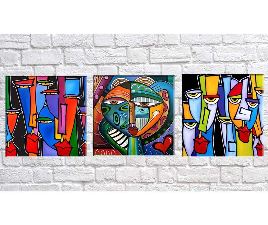 Picasso 3 db Kép 30x30  cm