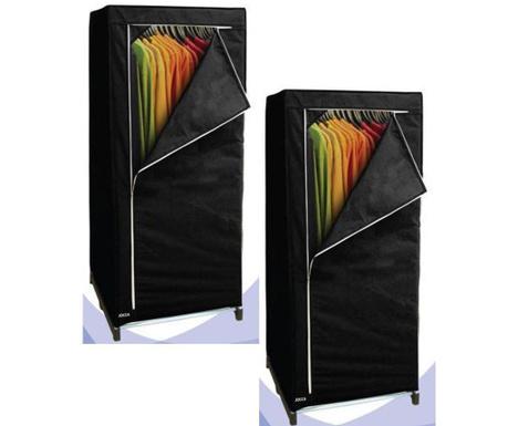 Set 2 dulapuri pliabile textile Black