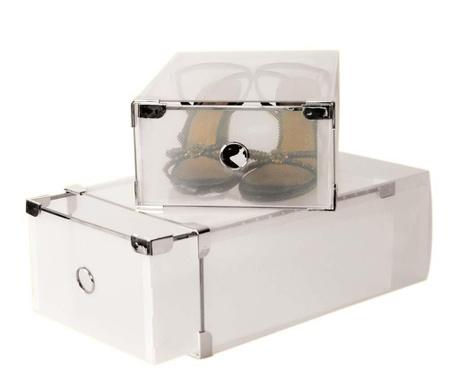 Translucent 2  db Cipőtároló doboz