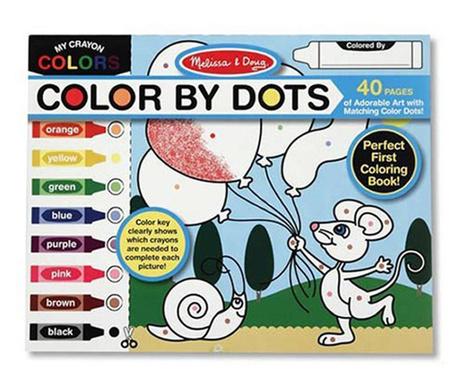 Bojanka s 40 crteža Color By Dots