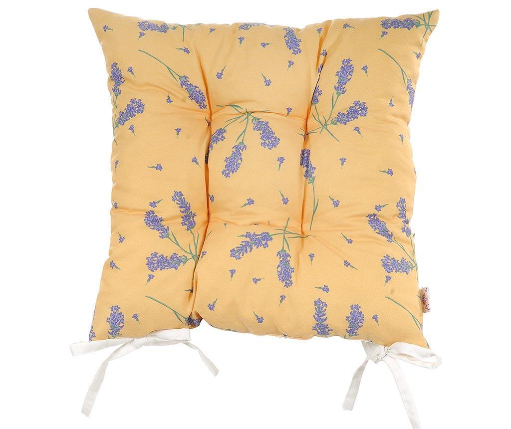 Perna de sezut Lavender on Orange 37x37 cm