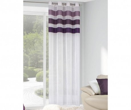 Draperia Cindy White Purple 140x250 cm