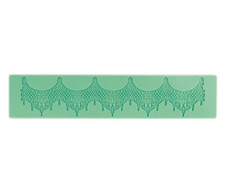Curtain Csipkemintás  fondant forma