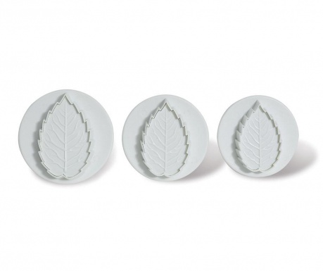 Set 3 decupatoare fondant Serrated Leaf