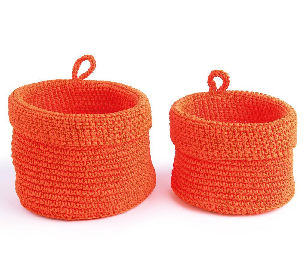 Set 2 cosuri Round Orange