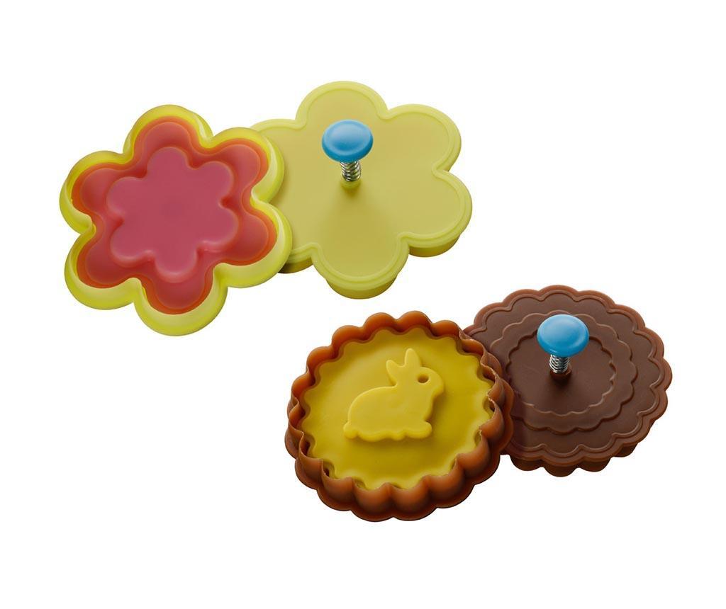 Set 2 forme pentru biscuiti Rabbit Flower