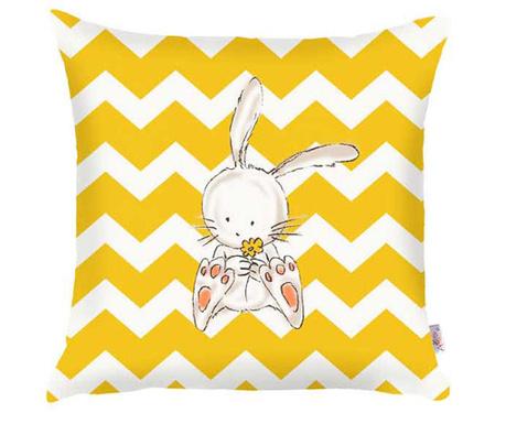 Fata de perna Bunny Yellow Zig Zag Lines 35x35 cm
