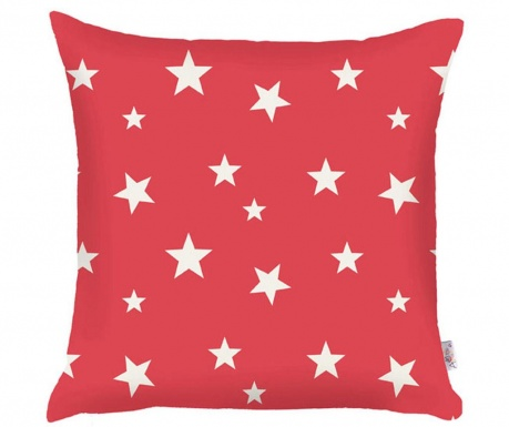 Fata de perna Stars Red 35x35 cm